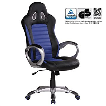 Home Collection24 Silla de Oficina Racer Azul Gaming Chef Sillón Racing giratoria 120 kg Mecanismo de sincronización Race Escritorio Silla: Amazon.es: Hogar