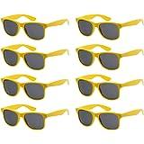 Fsmiling Colores Neon Articulos de Fiesta Gafas de sol de Cuadradas