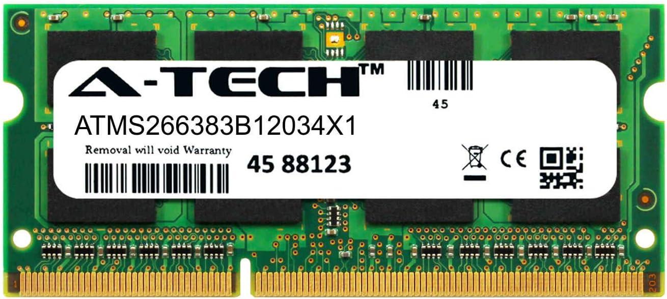 A-Tech 4GB Memory for HP EliteBook 8440p Laptop (1 x 4GB) DDR3 / DDR3L PC3-12800 1600MHz Non-ECC SODIMM 204-Pin 2Rx8 1.35V Dual Rank Notebook Computer RAM Upgrade Stick RAM (ATMS266383B12034X1)