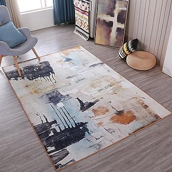 Delicieux Amazon.de: WOFULL Retro Do Olde Ink Malerei Teppich American Style  Wohnzimmer Couchtisch Teppich