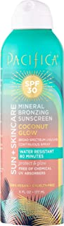 product image for Pacifica Beauty Sun + Skincare Mineral Bronzing Sunscreen Spray, 30 SPF, Coconut Glow, Vegan & Cruelty-Free, 6 Fl Oz