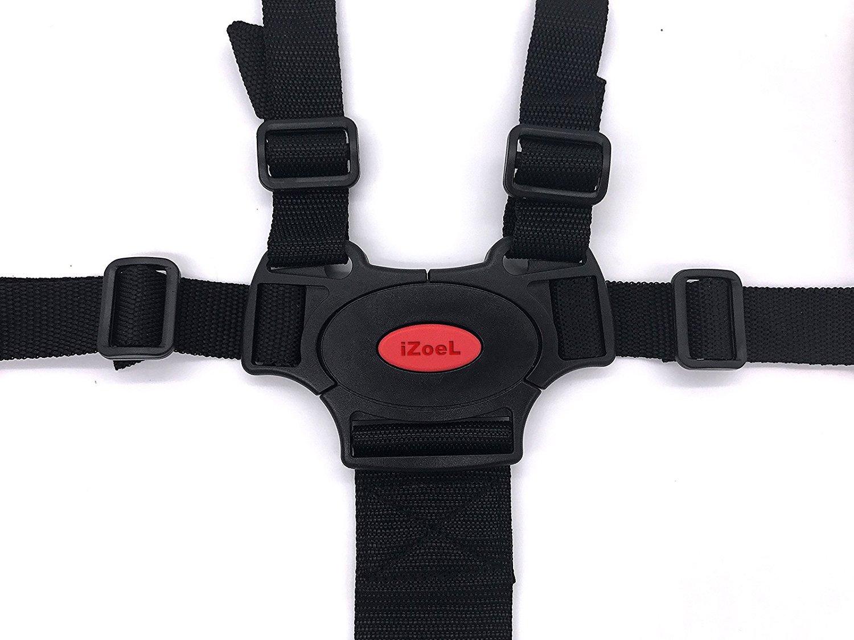 iZoeL B/éb/é Harnais de s/écurit/é 5 points pour poussette chaise haute Si/ège s/écurit/é ceinture avec /Épauli/ère R/églable