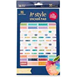 Erin Condren Designer Sticker Pad - A+ Style Sticker Pad for School and Teachers. Decorative and Cute Stickers for Customizing Planners, Notebooks, and More