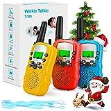 Fansteck Walkie Talkie, 3 pcs Walkie Talkie Niños 8 Canales Función VOX Rango de 3KM, Juguetes de Radio con Linterna LCD…
