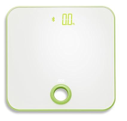ADE Báscula de baño digital BE1613 FITvigo. Electronica con excelente App. gratuita. Obtenga peso exacto de hasta 180 Kg indice de masa IMC. Bluetooth.