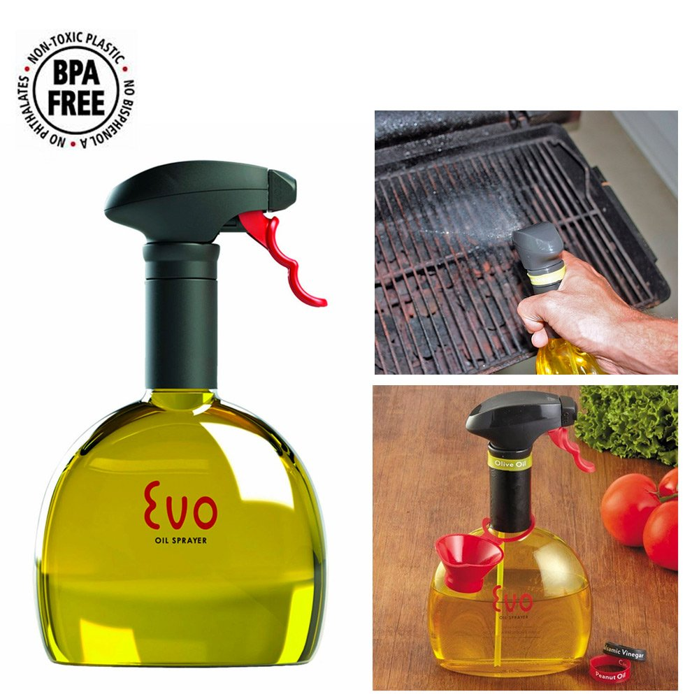 Good Amazon.com : Evo Oil Trigger Spray Bottle For Olive Cooking Oils 18oz  Kitchen Tool Funnel New : Grocery U0026 Gourmet Food