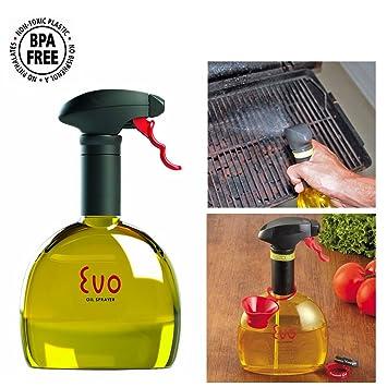 Evo Oil Trigger Spray Bottle for Olive Cooking Oils 18oz Kitchen Tool  Funnel New