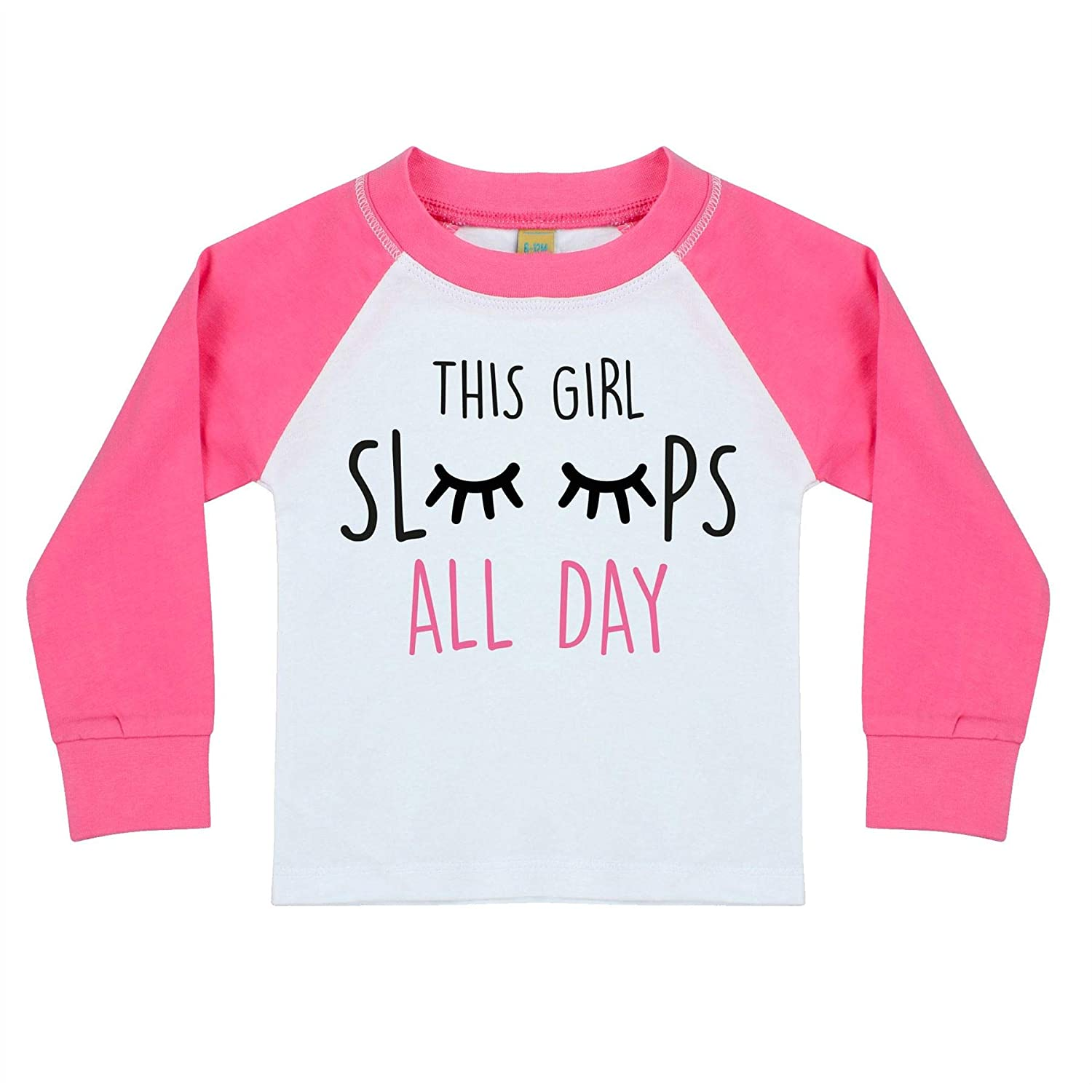 This Girl Sleeps All Day Girls Snuggle Fit Pyjamas London Co