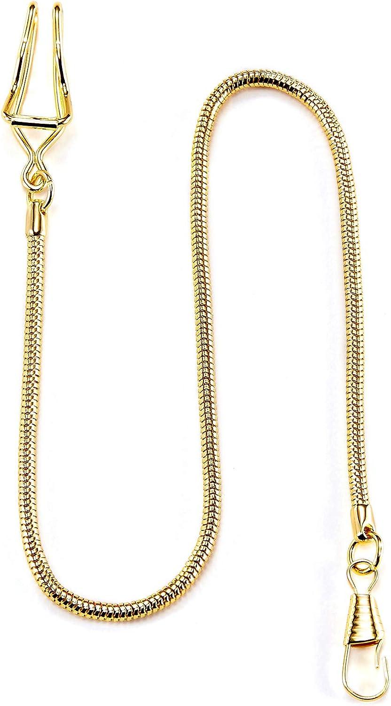 TREEWETO - Cadena para Reloj de Bolsillo (37,5 cm), Color Dorado