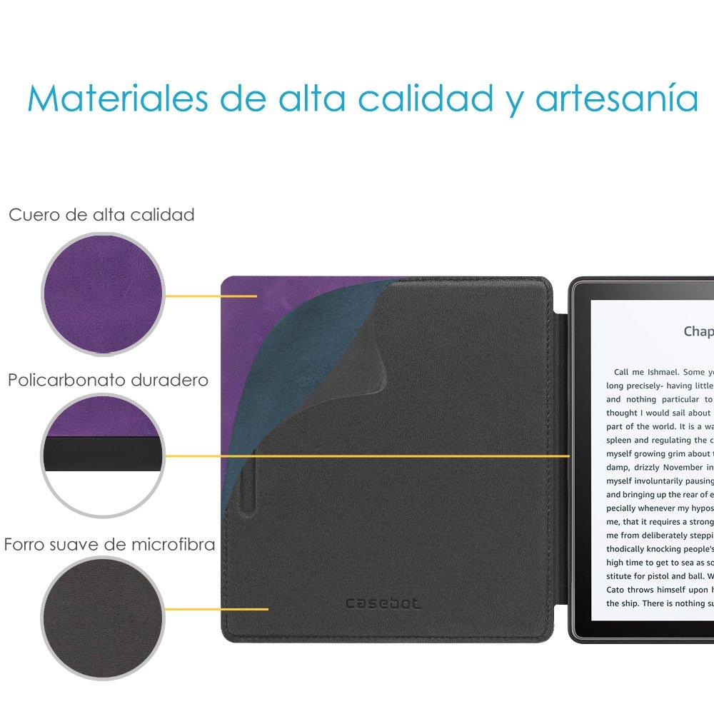 9./ª Generaci/ón CASEBOT Funda para Kindle Oasis 2017 No se Adapta a 10./ª Generaci/ón 2019 - Carcasa de Cuero Sint/ético Funci/ón de Auto-Reposo//Activaci/ón /Árbol de Amor