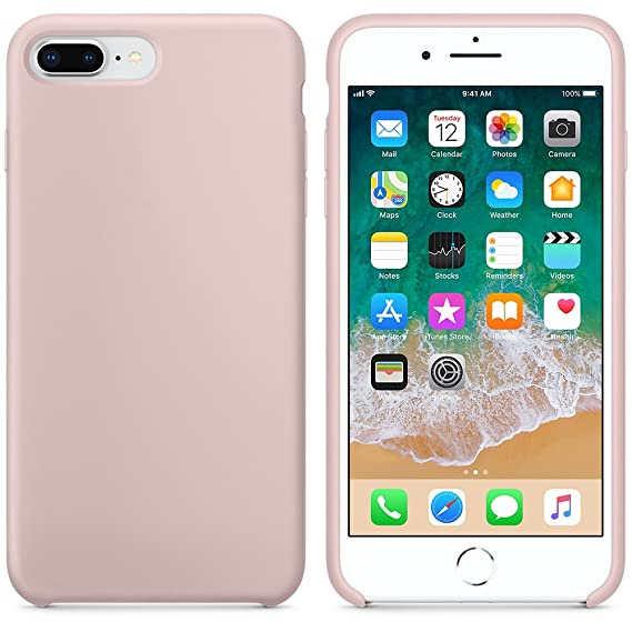 Amazon.com: iPhone 8 Case, iPhone 7 Case,LINDIANSHUMA Liquid Silicone Gel Rubber Case with Soft Microfiber Cloth Lining Cushion for Apple iPhone 8 (2017) ...