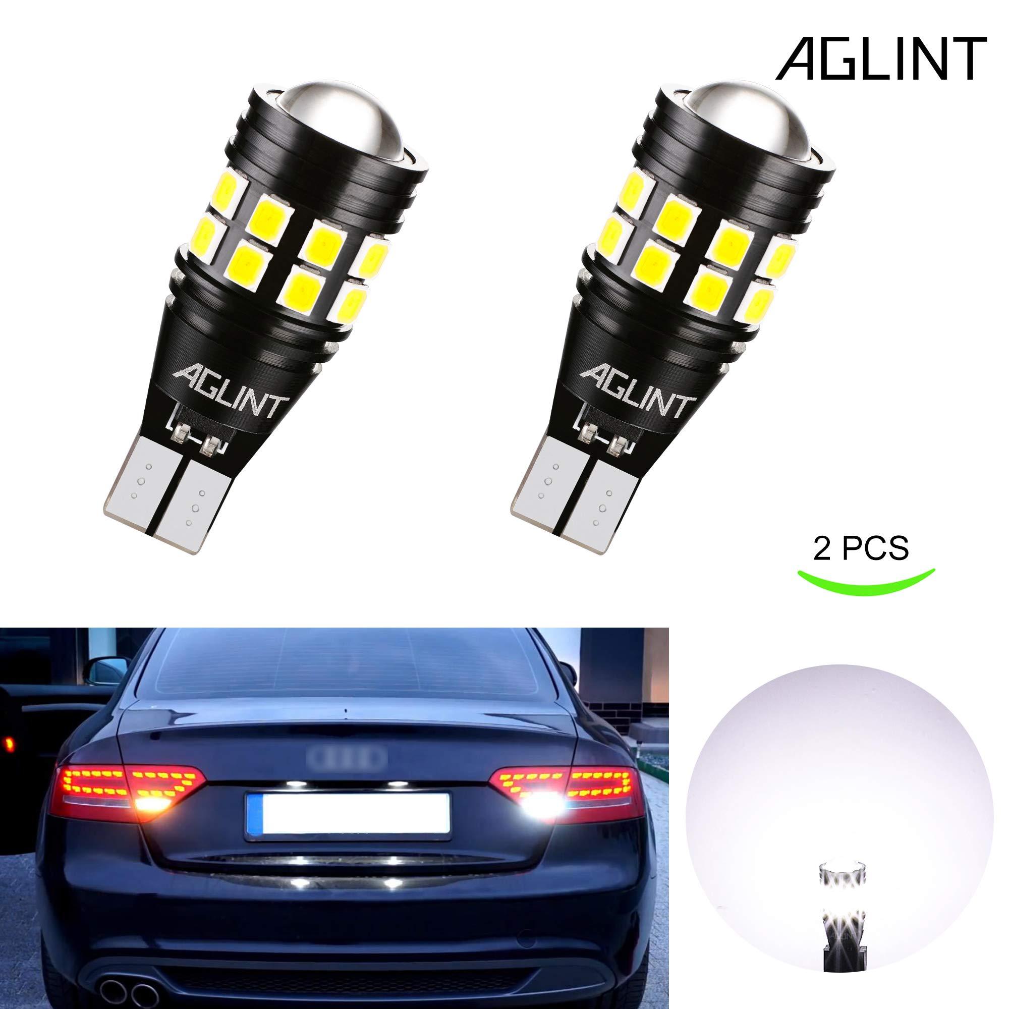 AGLINT 2X W16W T15 LED Bombillas CANBUS Error Gratuito 3030 22SMD Alta Brillante 921 912 Para