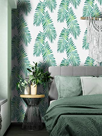 Green Leaf Wallpaper Peel And Stick Tropical Wallpaper Stick And Peel Jungle Wallpaper Self Adhesive Removable Wallpaper Green Papel Tapic Rainforest Palm Leaves Wall Covering Vinyl Film 17 7 118 Amazon Com Tons of awesome jungle wallpapers to download for free. green leaf wallpaper peel and stick tropical wallpaper stick and peel jungle wallpaper self adhesive removable wallpaper green papel tapic rainforest