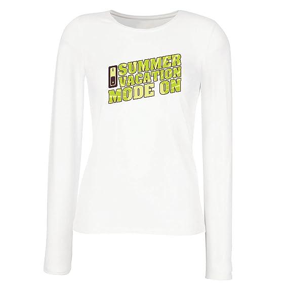 lepni.me Camisetas de Manga Larga para Mujer Vacaciones de Verano - Modo Activado - Último Día de Clases/Ideas de Regalos de Graduación: Amazon.es: Ropa y ...
