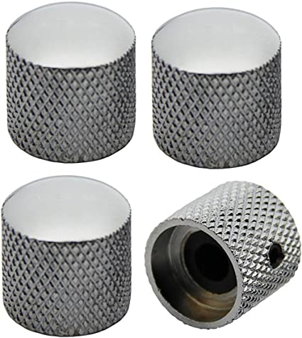 Black Barrel Knobs for P Bass//Telecaster Ibanez Domed Knurled Volume Tone Knob