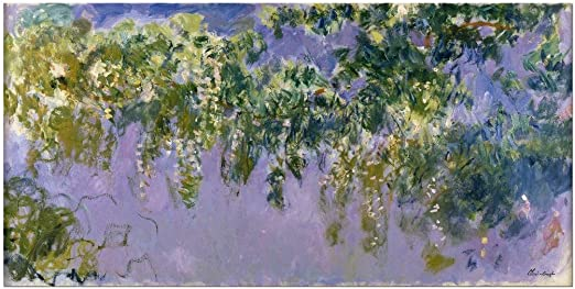 by Claude Monet Giclee Fine ArtPrint Reproduction on Canvas Wisteria 1