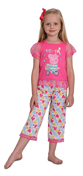 77188563 Amazon.com: Peppa Pig Girls' Toddler 2 Piece Heart Print Pajama Set:  Clothing