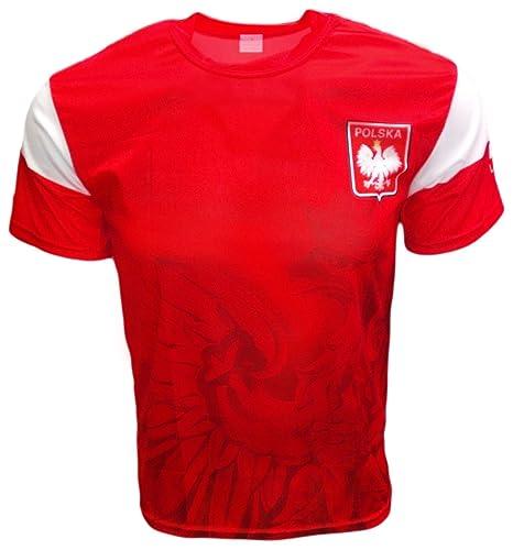 bee4e9c4 Amazon.com : FHR Polska Eagle Athletic Soccer Jersey Shirt : Sports ...