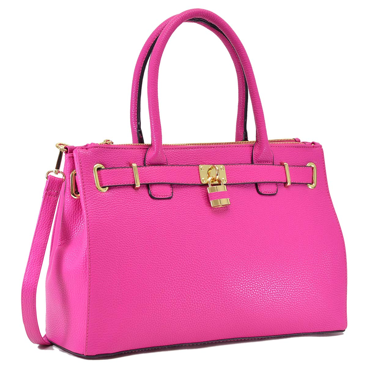 7cced7959e83 Dasein Women s Top Handle Satchel Handbags Tote Designer Purse Padlock Shoulder  Bag  Handbags  Amazon.com