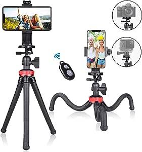 Fantaseal - Trípode Flexible para teléfono móvil, Smartphone, Selfie, Mini trípode de Viaje, portátil, Soporte de Mesa, Compatible con iPhone Samsung Webcam Youtuber Reivewer Vlog en Directo: Amazon.es: Electrónica