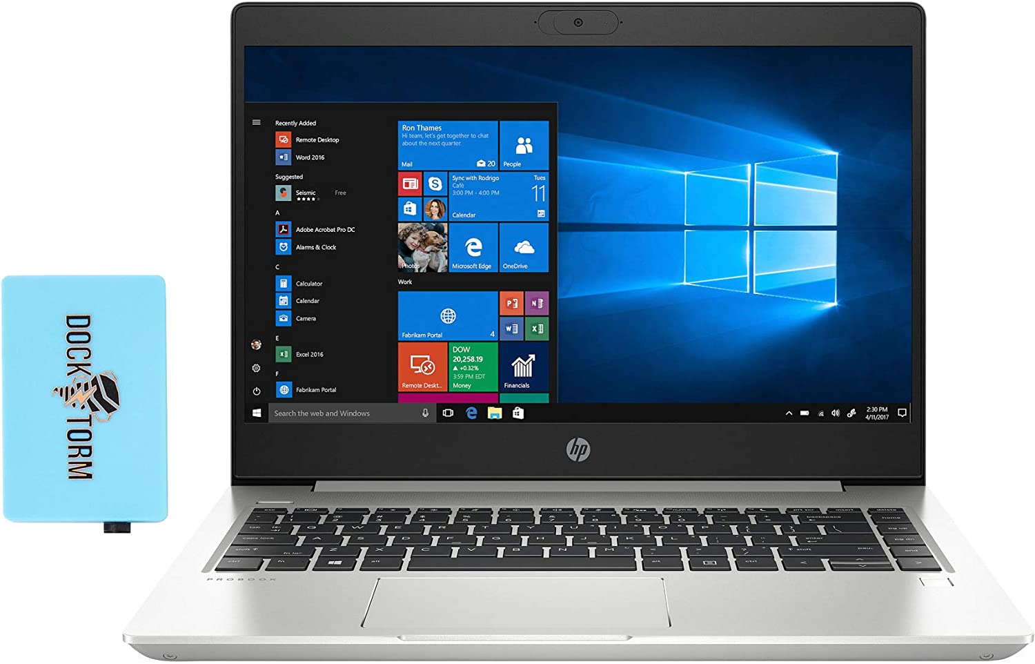 HP ProBook 440 G7 Home and Business Laptop (Intel i5-10210U 4-Core, 8GB RAM, 256GB PCIe SSD + 500GB HDD, Intel UHD 620, 14.0