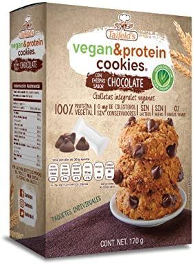 Vegan & protein cookies with chocolate flavored chips (Chocolate chips)