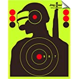 JingZhouYang - Reusable Splash Shooting Target, 10 x 12.5inch self-Adhesive Fluorescent Yellow Aiming Target for Indoor and O
