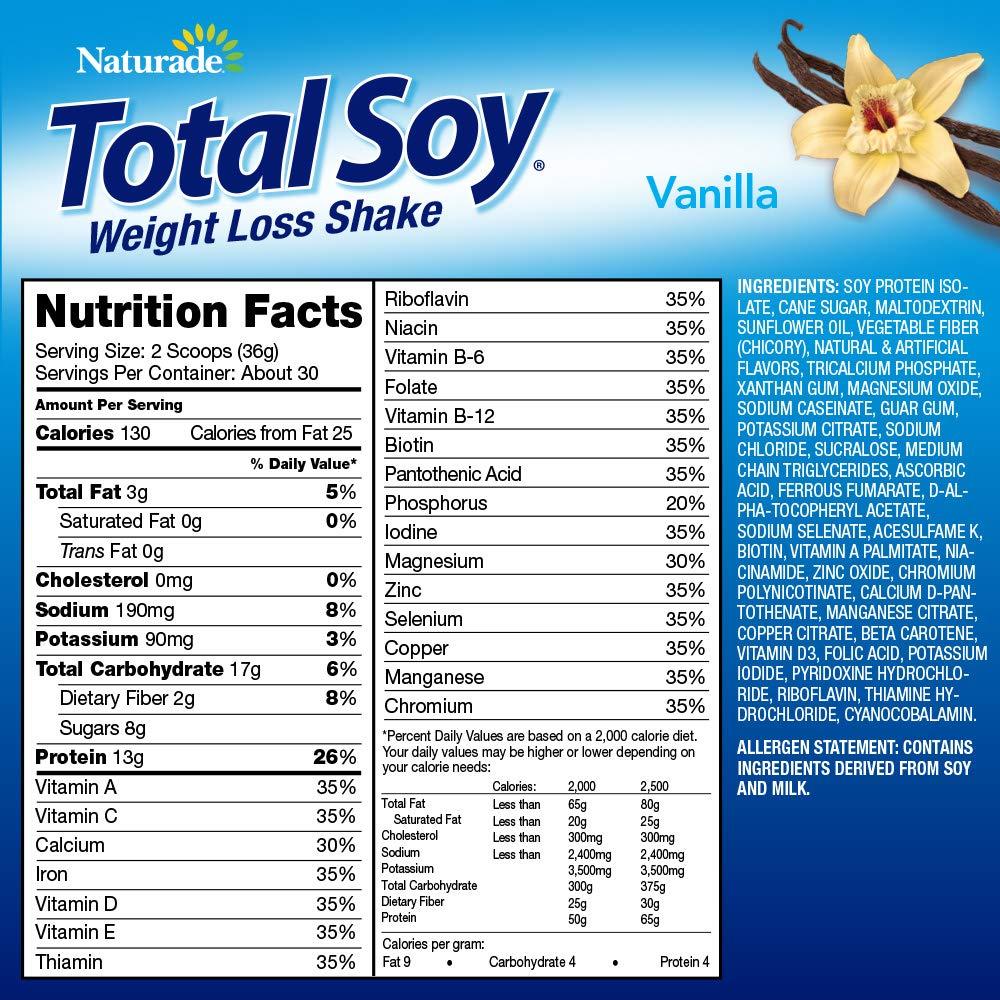 Naturade Total Soy Weight Loss Shake– Vanilla – 19.1 oz (Natural & Artificial) by Naturade (Image #6)