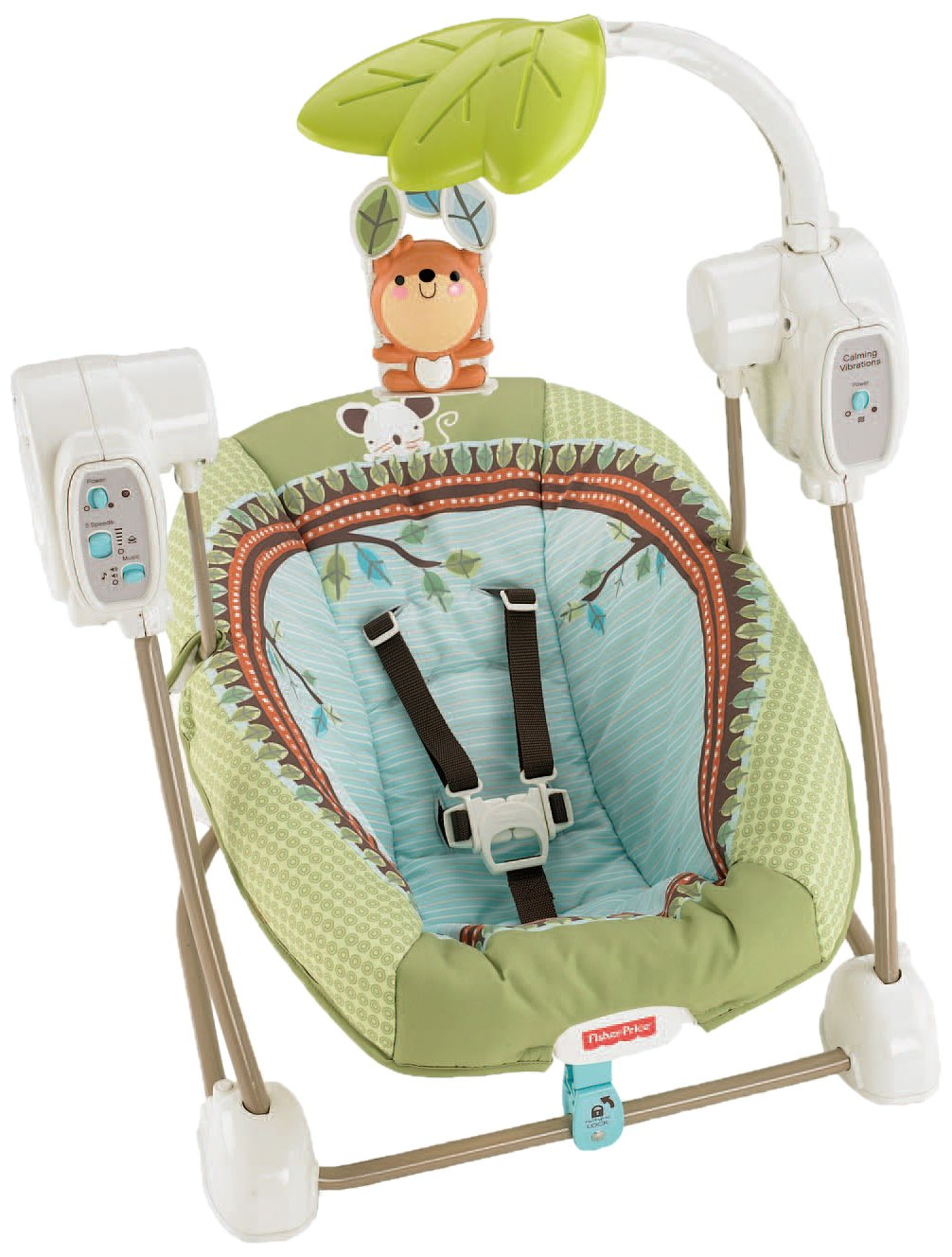 Fisher-Price SpaceSaver Swing and Seat, Forest Fun (Discontinued by Manufacturer) BBD08