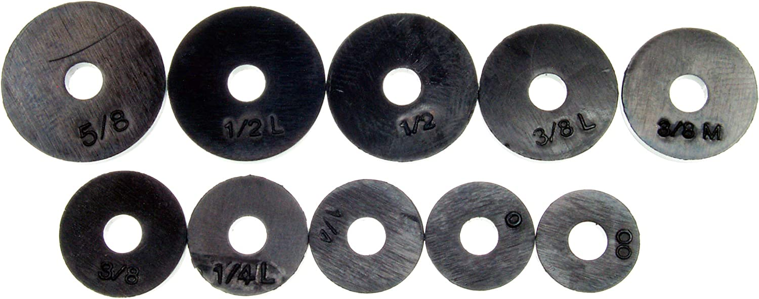 DANCO Assorted Flat Washer PRO Set, Black, 100-Piece (34441)
