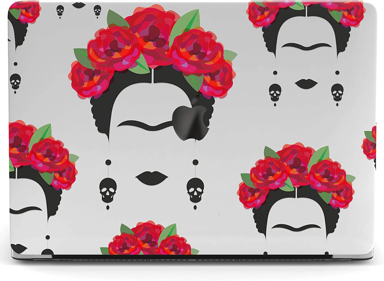 Wonder Wild Mac Retina Cover Case Compatible for MacBook Pro 15 inch 12 11 Clear Hard Air 13 Apple 2019 Protective Laptop 2018 2017 2020 Plastic Print Cute Flower Frida Roses Wreath Girl Pattern