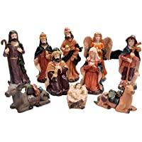 Asian Hobby Crafts Three Kings Gifts Real Life Nativity Set (10 Pieces)