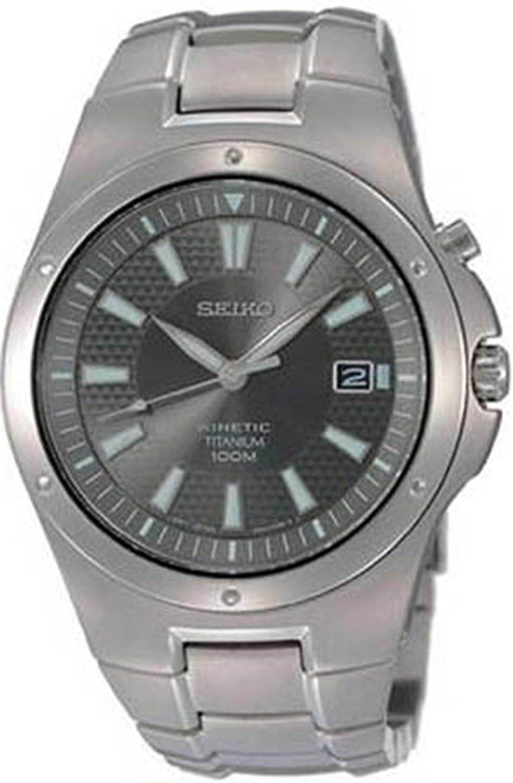 seiko mens full titanium kinetic watch amazon co uk watches gents mens seiko kinetic titanium bracelet watch ska397p1