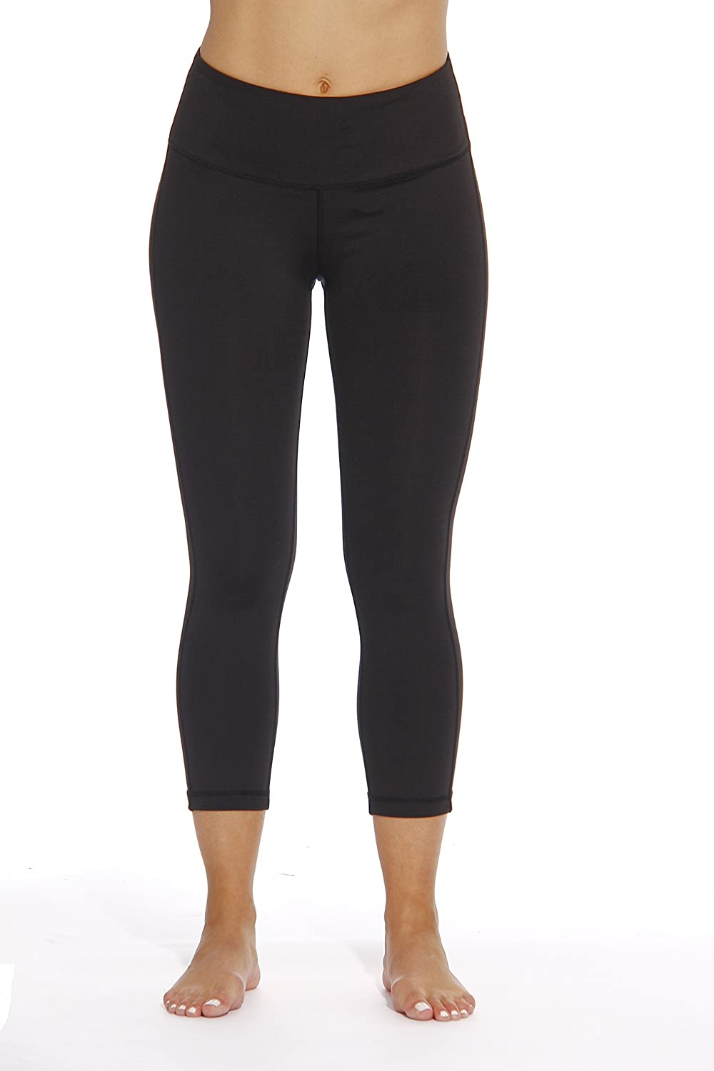 414ed72262b3ae ENHANCE YOUR WORKOUTS: Designed with stretchy performance fabric, Just  Love's yoga capris for women treat you to unrestricted movement as you work  up a ...