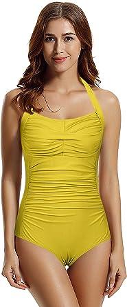 Zeraca Swimsuit Blue Size M 12 14 Soft Padded Wire Free High Leg Low Back New