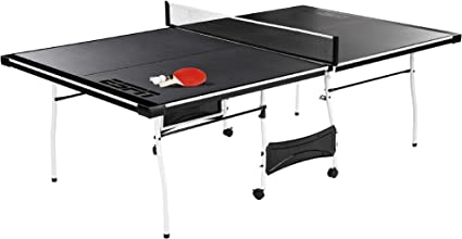 Amazon Com Table Tennis Table Espn Ping Pong Net And Post Set With Paddles And Balls Mid Size Indoor Folding Portable Compact Storage Ideal For Limited Recreational Area Sports Outdoors