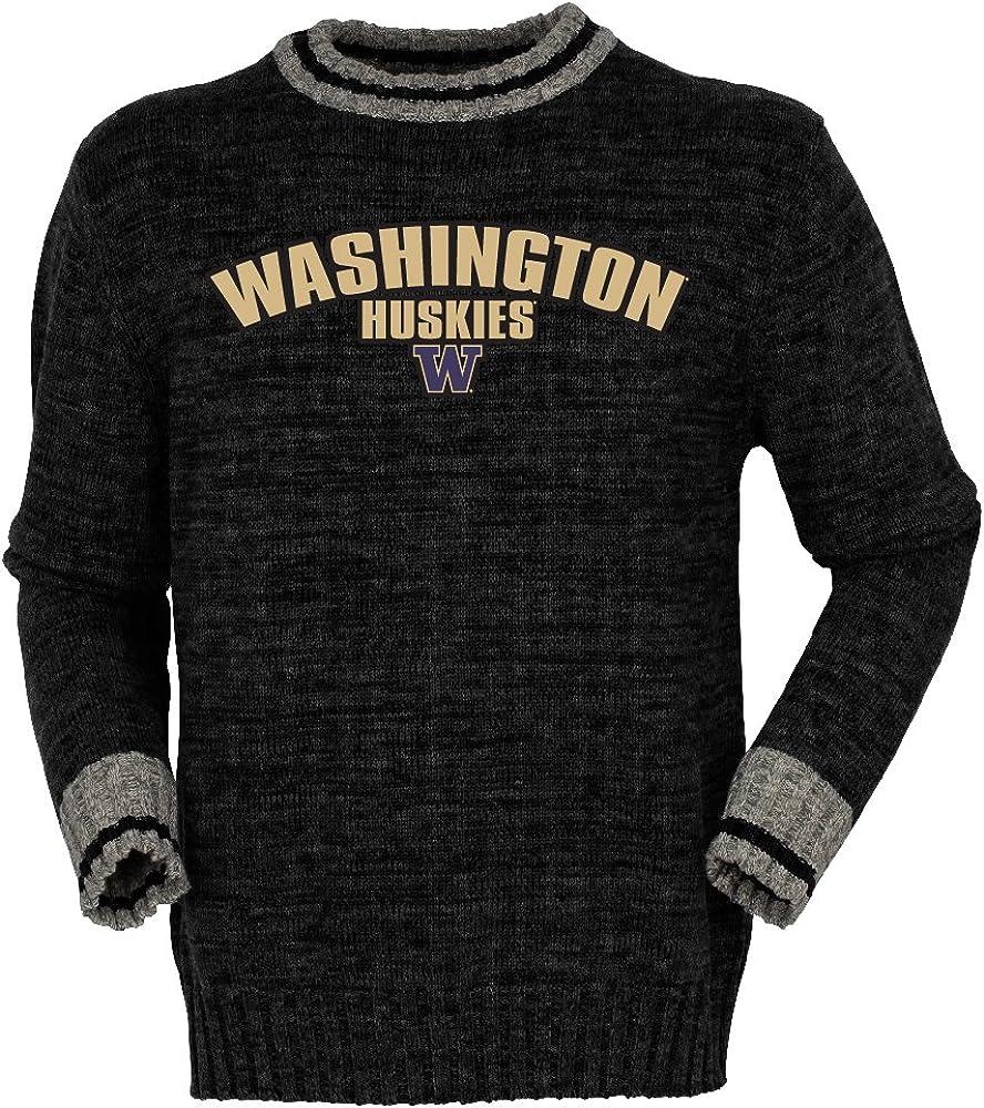 Black Mix Medium Bruzer NCAA Washington Huskies Mens Work Sock Crewwork Sock Crew