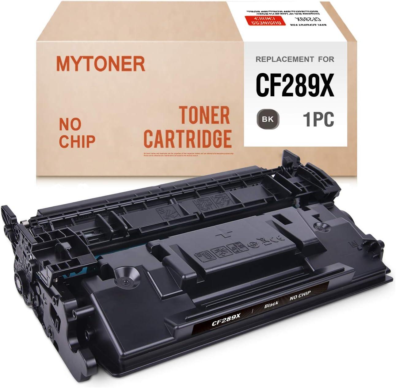 MYTONER (No Chip) Compatible Toner Cartridge Replacement for HP 89X CF289X High Yield Toner for Laserjet Enterprise M507 MFP M528 Series Printer Ink (Black,1-Pack)