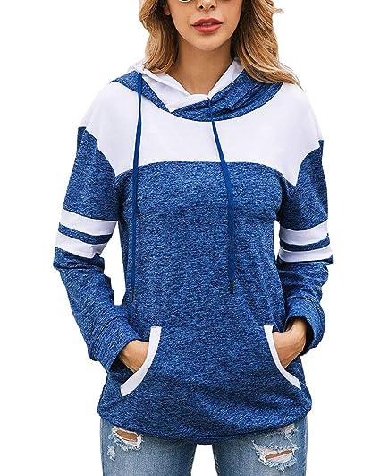 Damen Freizeit-Sweatshirt Langärmelige Pullover Kapuzenpullover Minikleid Nue
