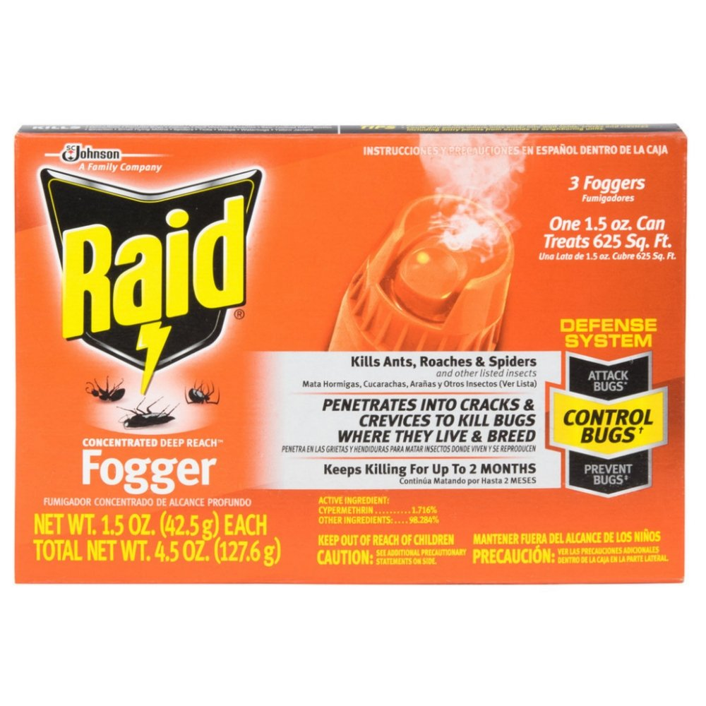 Raid Deep Reach Concentrated Fogger 3 Each