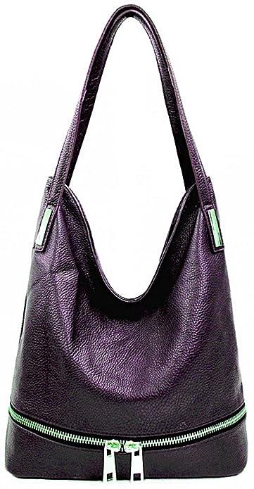 f60ad6d671 Handbag Bliss Beautiful Italian Soft Grained Leather Cross Body Shoulder Bag  Purple
