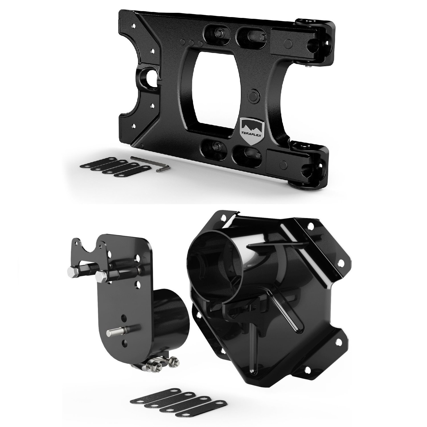 Teraflex 4838150 Alpha HD Hinged Tire Carrier with Adjustable 5x5 Spare Tire Mounting Kit for Jeep Wrangler JK