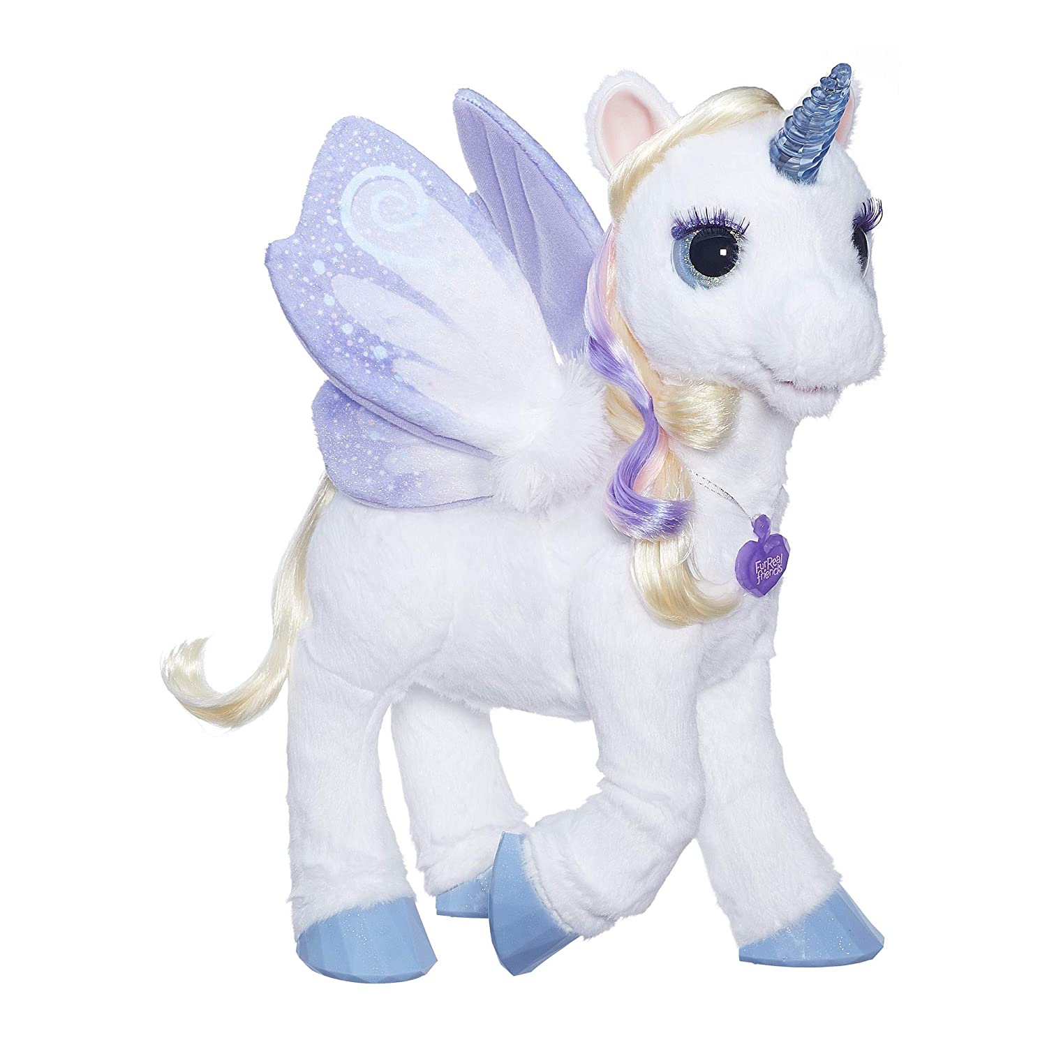 furReal StarLily My Magical Unicorn Interactive Plush Pet Toy Light up Horn Ages 4 and Up Amazon Exclusive