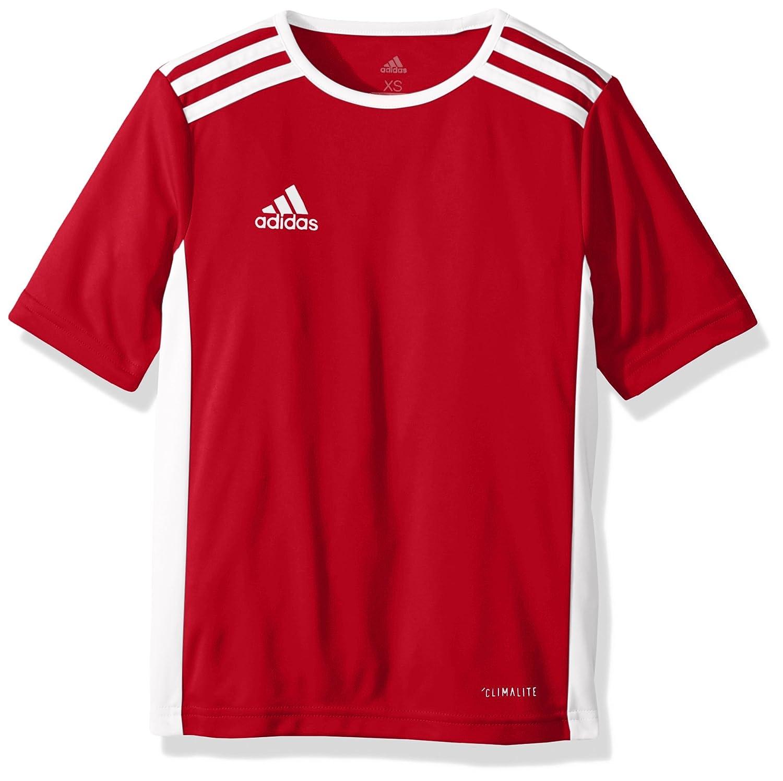Adidas エントラーダジャージー 男子用 サッカー 18。 B071GWFGSS Medium Power Red/White Power Red/White Medium