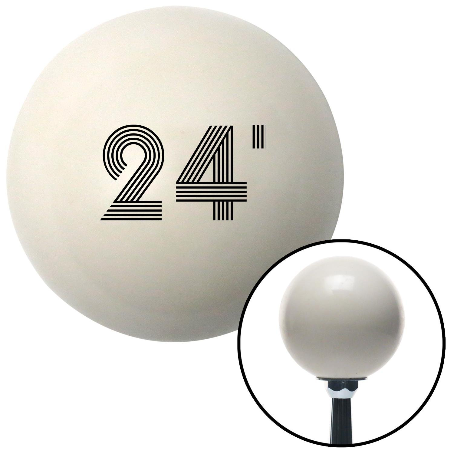 Black 24 Year Retro Series American Shifter 142208 Ivory Shift Knob with M16 x 1.5 Insert