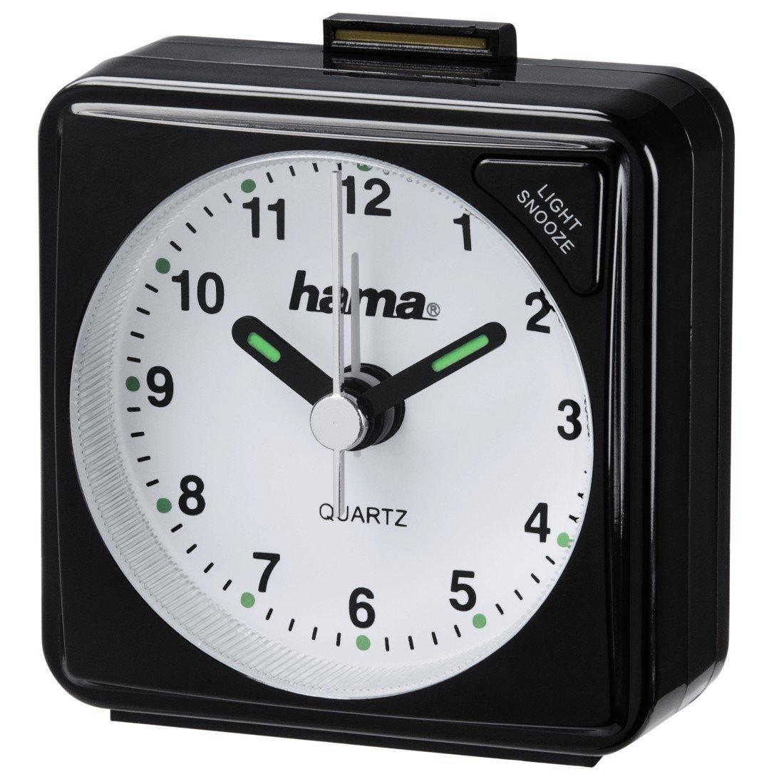 Hama A50 Sveglia da Viaggio, Plastica, Bianco, 5.6 x 3 x 5.6 cm 00136240