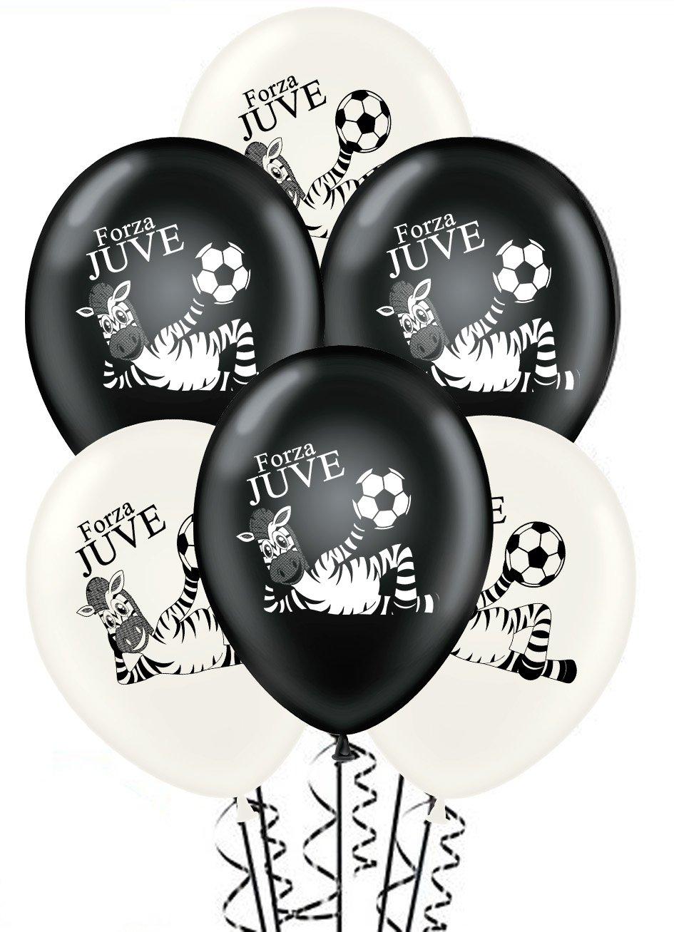 Paquete de 20 globos blancos y negros Forza Juve para ...