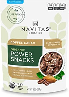 product image for Navitas Organics Superfood Power Snacks, Coffe Cacao, 8 oz. Bag, 11 Servings — Organic, Non-GMO, Gluten-Free