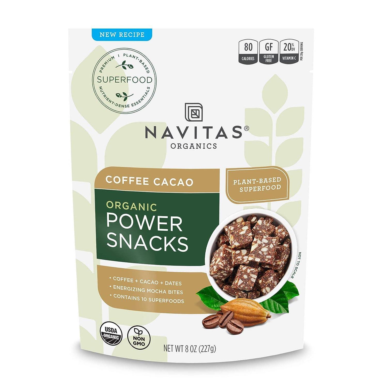 Navitas Organics Superfood Power Snacks, Coffe Cacao, 8 oz. Bag, 11 Servings — Organic, Non-GMO, Gluten-Free