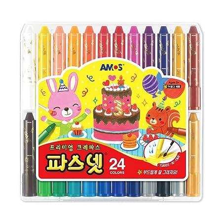Amazon Com Amos Premium Non Toxic Silky Crayon Pasnet  Colors Everything Else